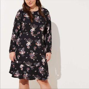 LOFT Plus Wildflower Flounce Dress NWT